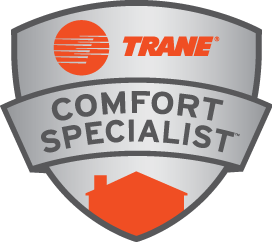 The Trane badge